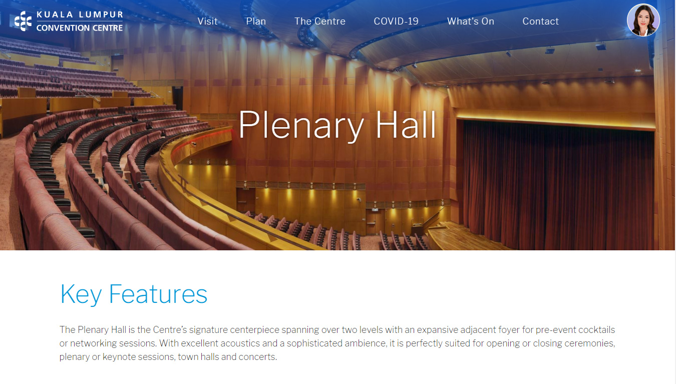 KLCC Convention Centre Website Design by XIMNET Malaysia